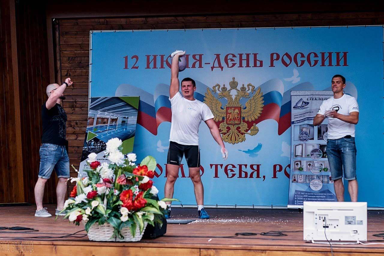 Рекорд России в рывке гири 12 июня